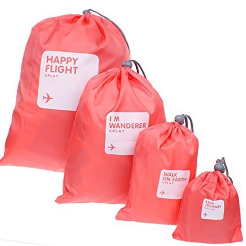 Водонепроницаемые мешочки для одежды Happy Flight Cplay, 4 шт, Цвет Тёмно-розовый
