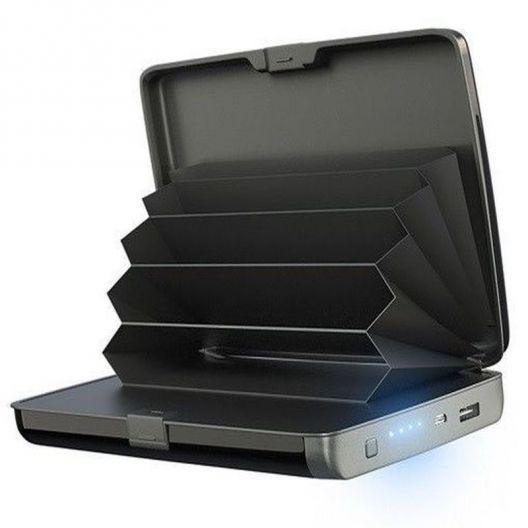iizw Зарядное устройство и одновременно кошелек (2 в 1) Sonic IQ E-Charge Wallet (СОНИК ИК Е-ЧАРЖЕ ВАЛЛЕТ) 10000 мАч (черное) Новое, Гарантия, Доставка