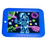 Магический планшет для рисования с подсветкой, синий