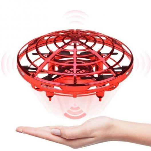 iizw Индуктивный мини - дрон квадрокоптер НЛО SP330 (красный) Новый, Гарантия, Доставка