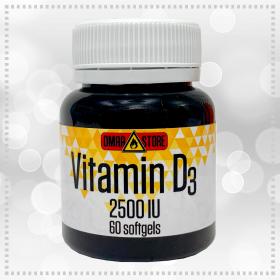 Витамин D3 2500 IU 60 гелевых капсул