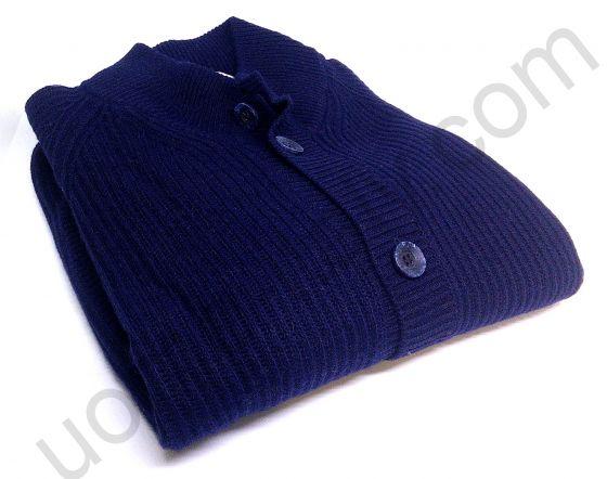 Кофта Giorgio Porta синяя полностью на пуговицах (последний размер 48)