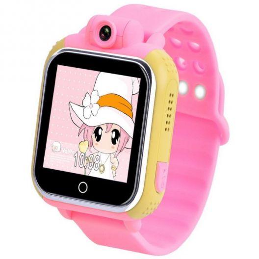iizw Функциональные детские умные часы-телефон с GPS-трекером Smart Baby Watch Pockemon GW1000 (G75, Q100) (желто-розовые) Новые, Гарантия, Доставка