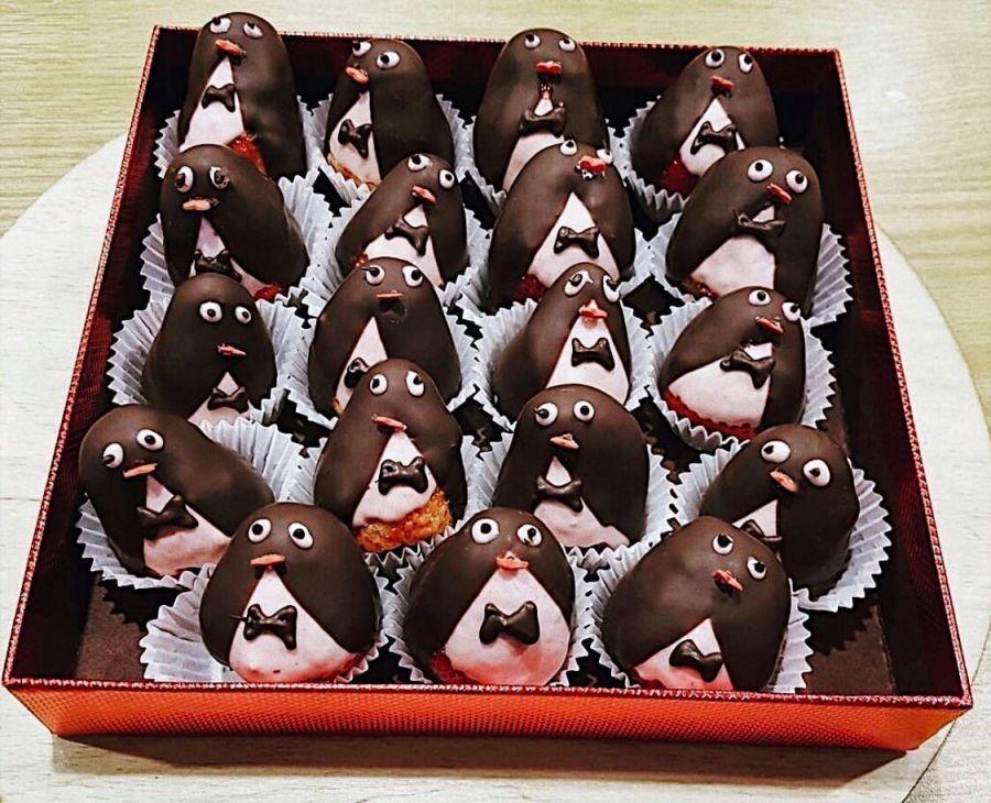 Клубника в шоколаде Пингвины