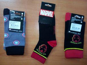 Мужские/подростковые носки  СЛ50, СЛ417  железный человек, звезды