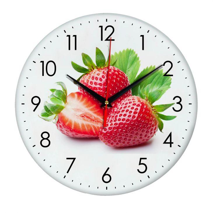 Часы настенные Клубника