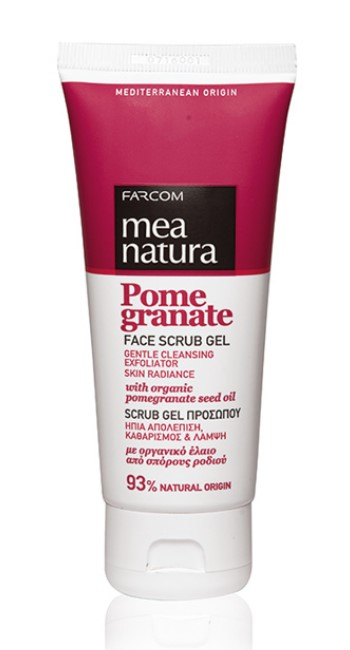 Mea Natura Pomegranate, Гель скраб для лица, 100 мл.