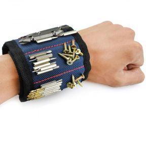 iizw Строительный матерчатый браслет с тремя магнитами Magnetic Wristband (МАГНЕТИК РИСТБАНД) (синий) Новый, Гарантия, Доставка