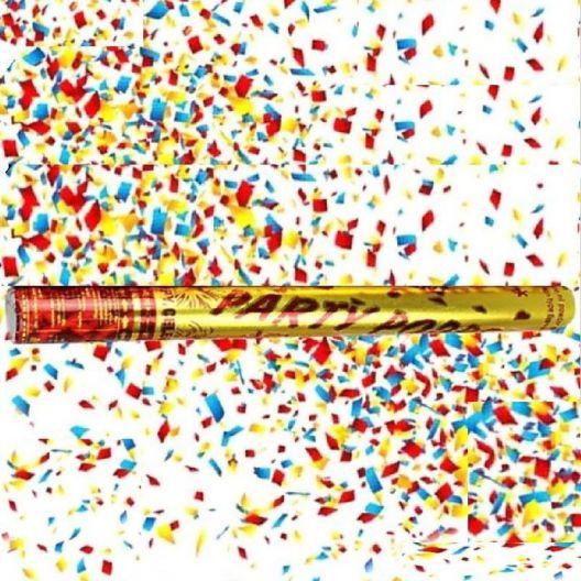 iizw Пневматическая хлопушка с наполнителем-серпантином PartyPopper (длина 38 см, выстрел до 7 м) Новая, Гарантия, Доставка