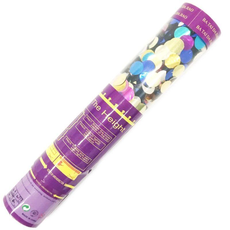 iizw Пневматическая хлопушка с наполнителем из блестящего конфетти разного цвета (длина 30 см, выстрел до 7 м) Новая, Гарантия, Доставка