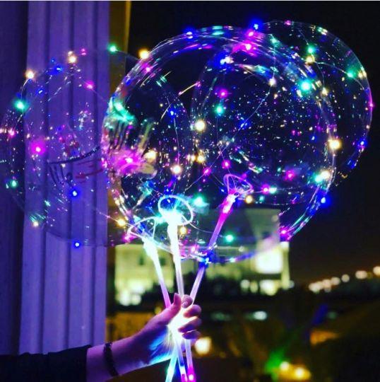Светящиеся led шары BOBO, набор из 3 круглых шариков и насоса