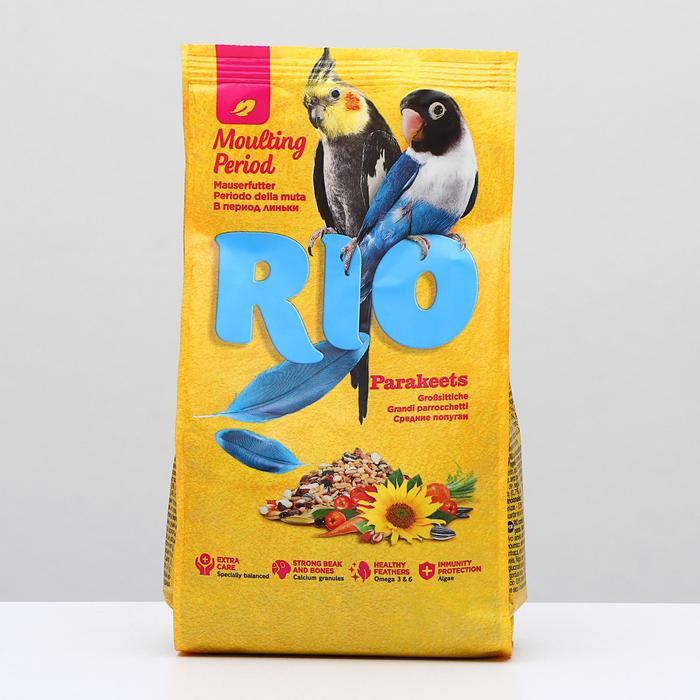 """Корм """"RIO"""" для средних попугаев в период линьки, 500 гр"""