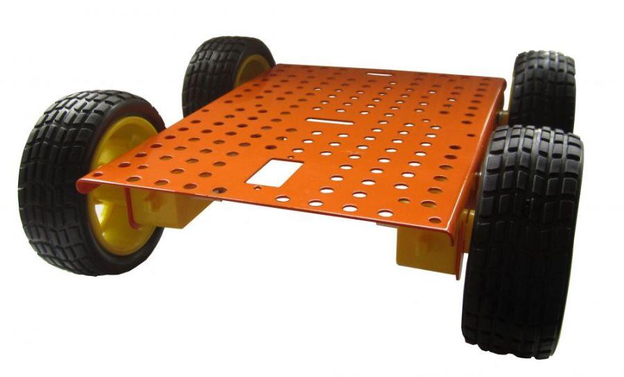Металлическое шасси для для мобильного робота «Ровер 4 х 4»