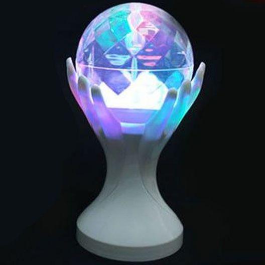 iizw Вращающийся светодиодный светильник Декоративный Шар на руках белой окраски (электросеть 220 В, высота 18 см) Новый, Гарантия, Доставка