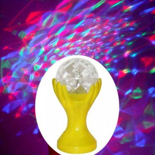 iizw Вращающийся светодиодный светильник Декоративный Шар на руках желтой окраски (электросеть 220 В, высота 18 см) Новый, Гарантия, Доставка