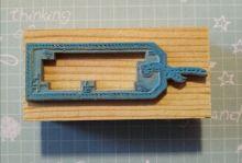 штамп ТЕГ на деревянной основе материал резина  размер 37*15 мм