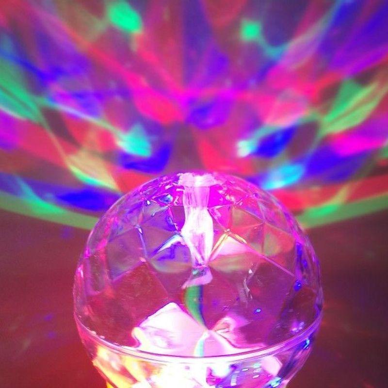 iizw Вращающийся светодиодный светильник Шар МИНИ на темно-розовом основании (электросеть 220 В, высота 14,5 см) Новый, Гарантия, Доставка