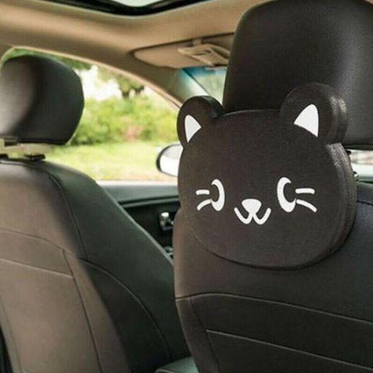 iizw Складной столик (мультяшный котик) для детей в автомобиль с креплением под подголовник переднего сидения CAR TRAY TABLE. Новый, Гарантия, Доставка
