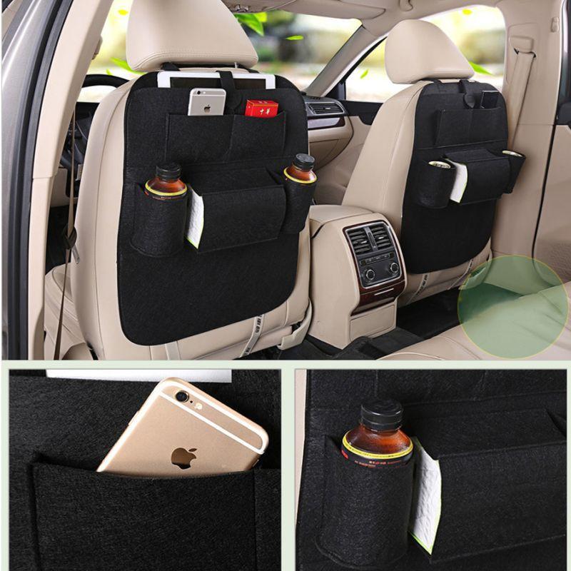 iizw Универсальный автомобильный органайзер с системой крепления на спинку переднего сидения StorageBag (черный) Новый, Гарантия, Доставка