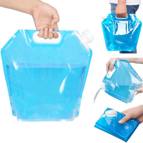 Складная канистра для воды с вакуумным клапаном, 5 л