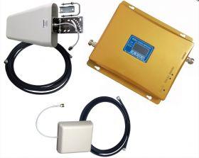 Комплект усиления сотовой связи GSM 1800 3G 2100 МГц до 300м² (комплект)