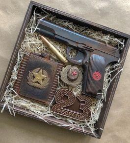 Набор Пистолет ТТ + надпись 23 февраля