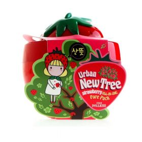 BAVIPHAT Urban Dollkiss New Tree Strawberry All-In-One Pore Pack 100g - Маска-скраб с экстрактом клубники для очищения пор