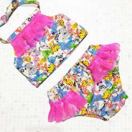 Купальник с рюшами ПОД ЗАКАЗ трусики - подгузники Easy Size для плавания от рождения до 3х лет