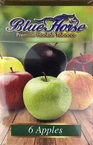 Табак для кальяна Blue Horse 6 Apples