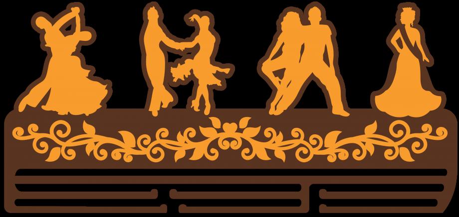 Медальница парные танцы из дерева на заказ большая