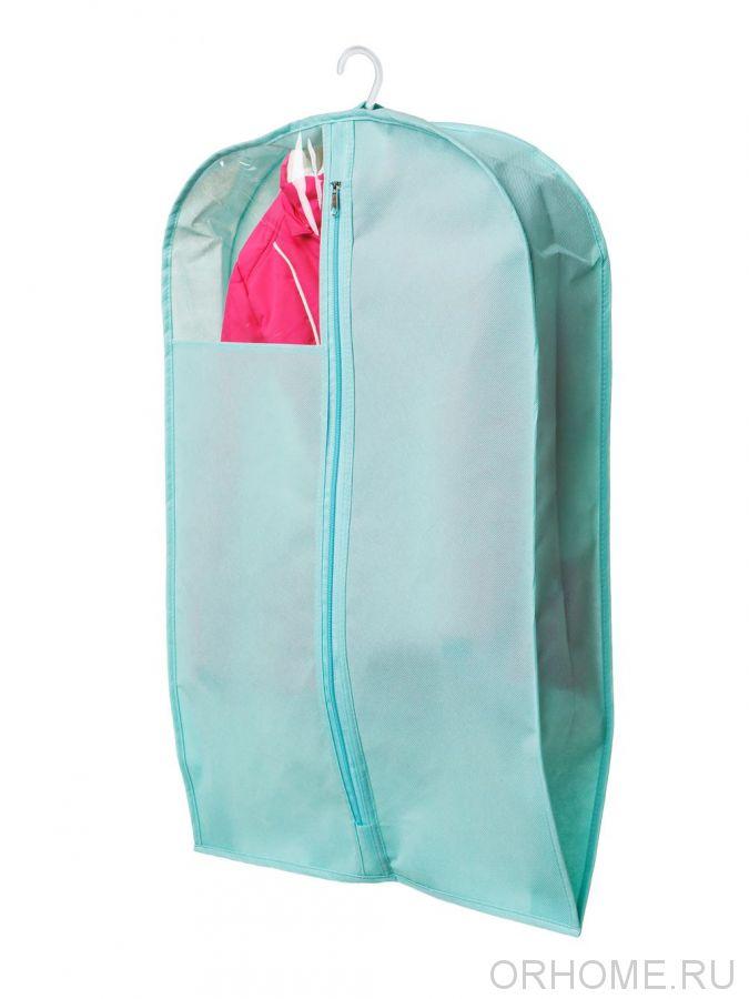 Чехол для хранения  одежды, объемный,  с окошком, 70х45х10 см