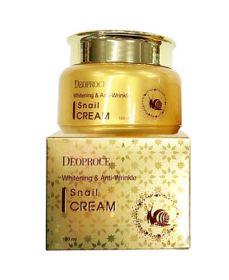 DEOPROCE Whitening & Anti-Wrinkle Snail Cream 100ml - Улиточный крем для осветления и разглаживания кожи