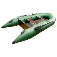 Гелиос 33МС плоскодонка +слань (лодка ПВХ под мотор)