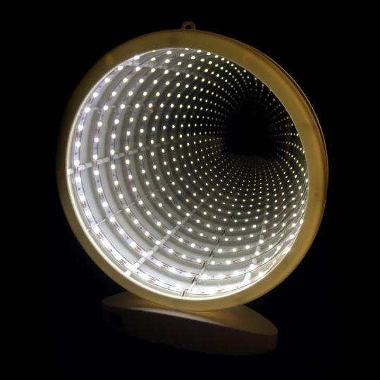 Зеркальный ночник с эффектом бесконечности (круг)