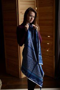 Тонкий шелковый шарф- шейный платок, Официальный шарф знаменитого ОКСФОРДСКОГО УНИВЕРСИТЕТА  -OFFICIAL UNIVERSITY OF OXFORD LADIES SILK SCARF, плотность 3