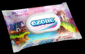 ТМ «Ozone» 48 влажная туалетная бумага детская