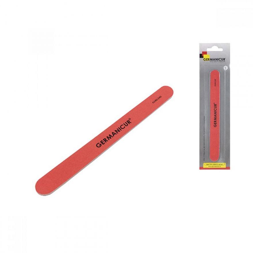 Пилка-наждак GM-1601(240/240), прямая красная для ногтей