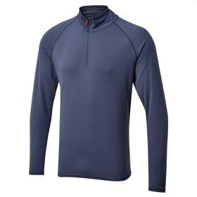 Мужская футболка с длинными рукавами и воротником на молнии UV009_UV