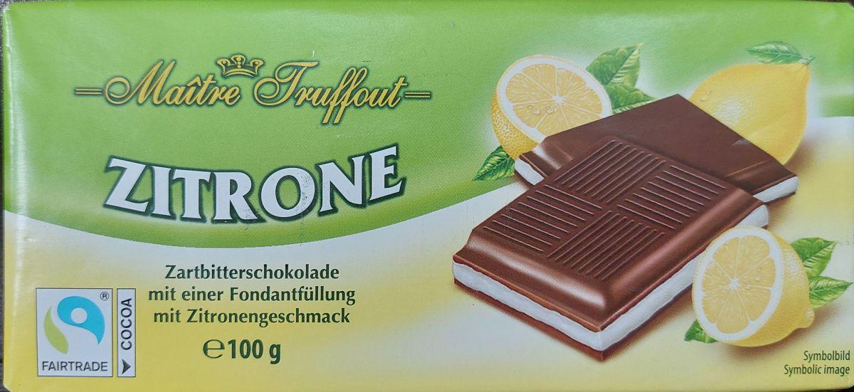 Шоколад Maitre Truffout Темный шоколад 50% (лимон) 100г
