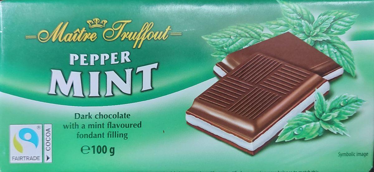 Шоколад Maitre Truffout Темный шоколад 50% (мята) 100г
