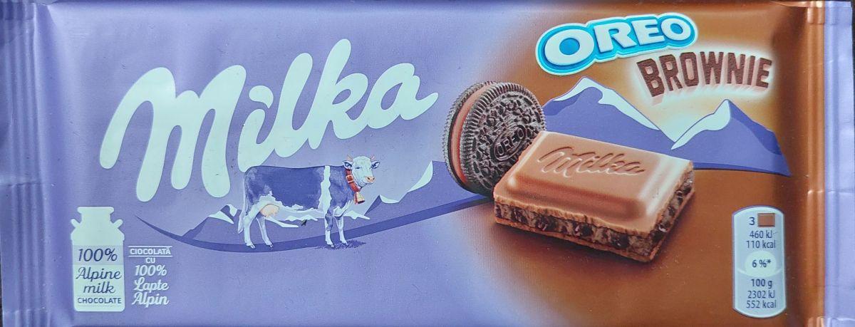Шоколад Milka Молочный шоколад (орео брауни) 100г