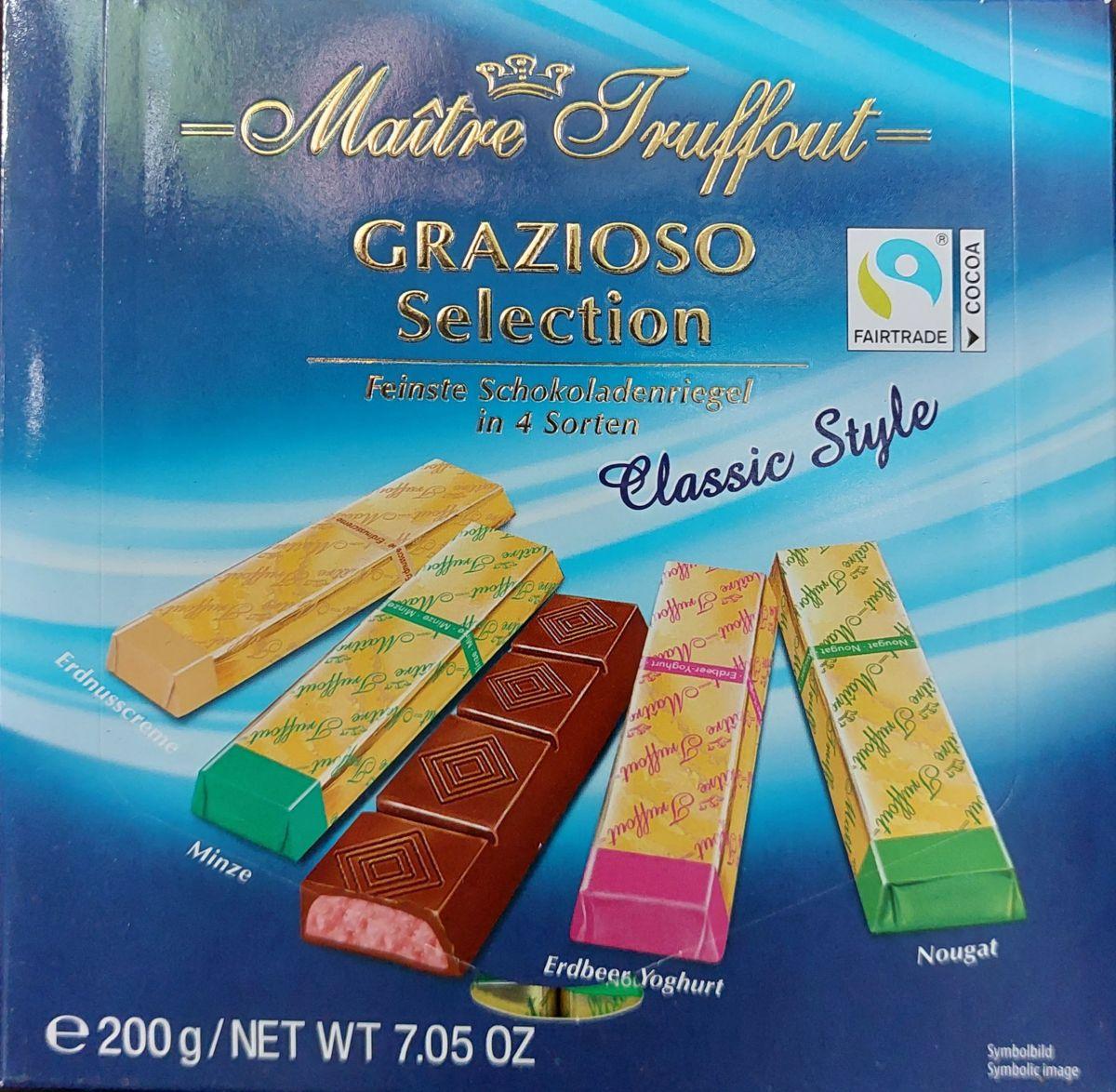 Шоколад Maitre Truffout Grazioso Молочный шоколад (ассорти) 200г