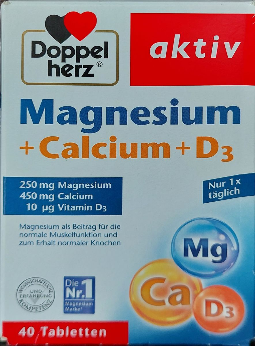 Doppelherz Магний + Кальций + Витамин D3 (БАД) 40шт