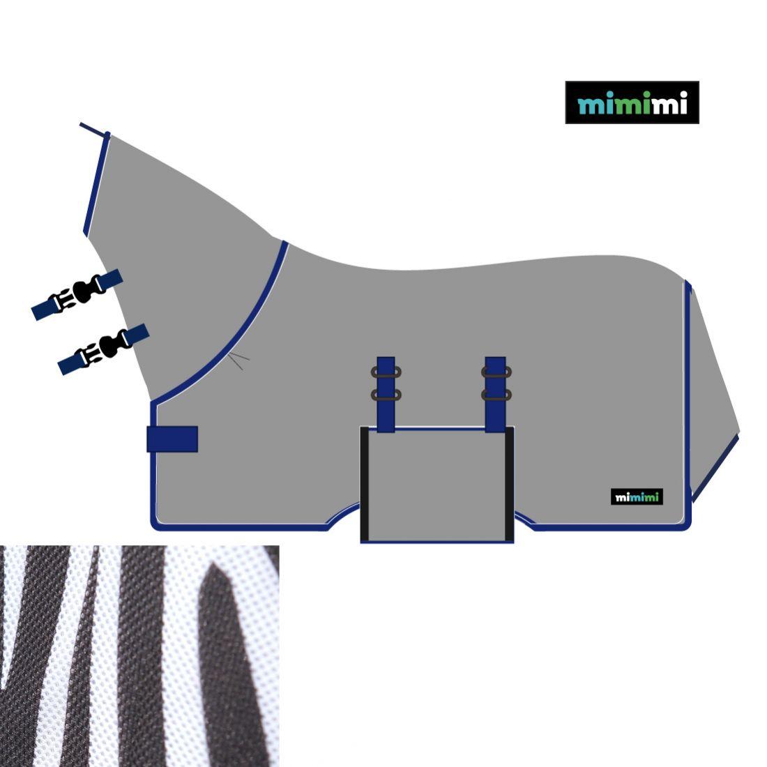 Попона антимоскитная CHIC Air-Max ZEBRA с капором и клапаном mimimi