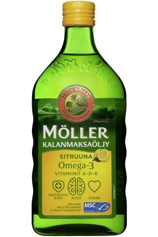 Рыбий жир Moller (лимон) 500мл