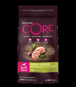 CORE Wellness со сниженным содержанием жира из индейки с курицей д/взрослых собак мелких пород