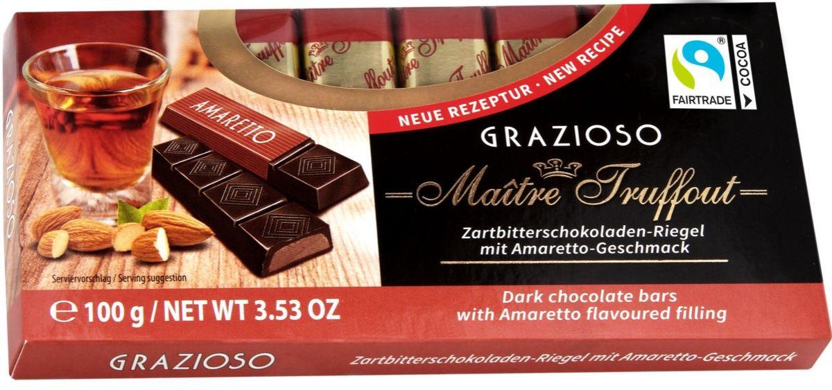 Шоколад Maitre Truffout Grazioso Темный шоколад 50% (амаретто) 100г