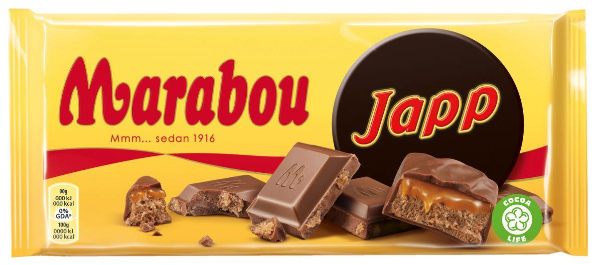 Шоколад Marabou Молочный шоколад (карамель Japp) 185г