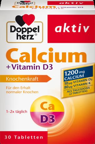 Таблетки Doppelherz (кальций+Витамин D3 30шт