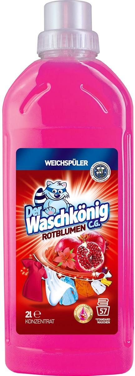 Кондиционер для белья Der Waschkonig Алые цветы 1л